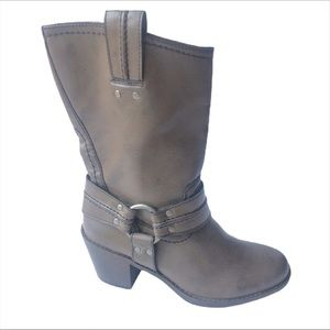 Sonoma brown tall heeled boots size 7